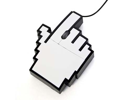 10-Retro Pointer Finger Cursor Icon Pixel Mouse