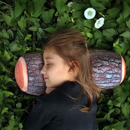 14-Log Pillow by Kikkerland