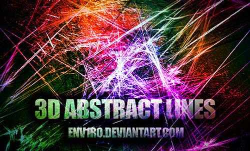 16-3D Abstract Line