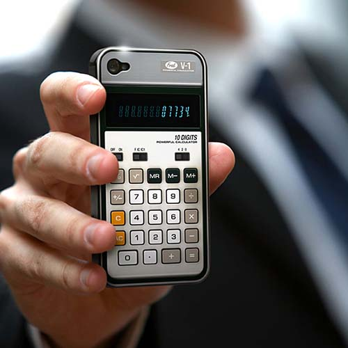 16-Old-School Calculator iPhone Case