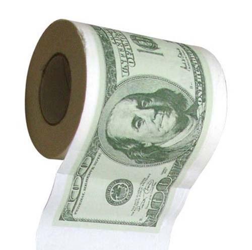 17. $100 BILLS TOILET PAPER