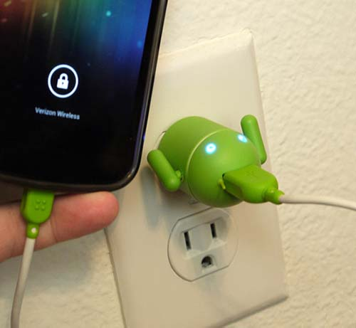 19-Android Robot USB Device Charger