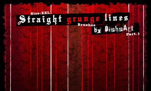 19-Straight Grunge Lines Brushes