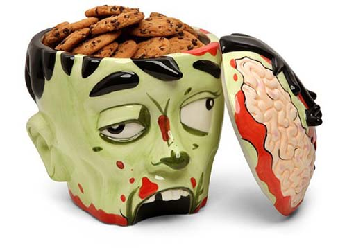 20-Zombie Head Cookie Jar