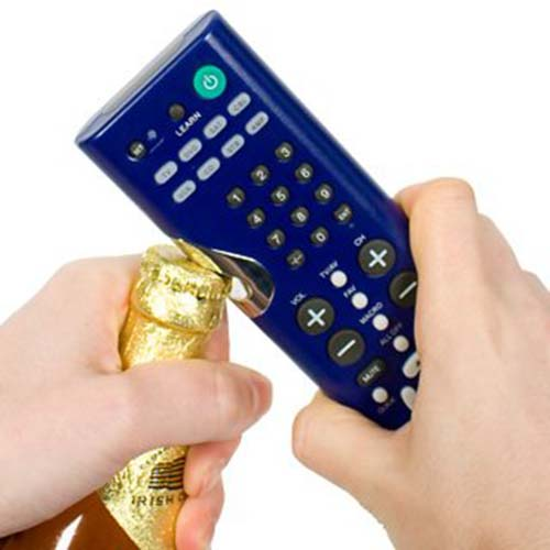 22. TV REMOTE THAT CAN OPEN BOTTLES