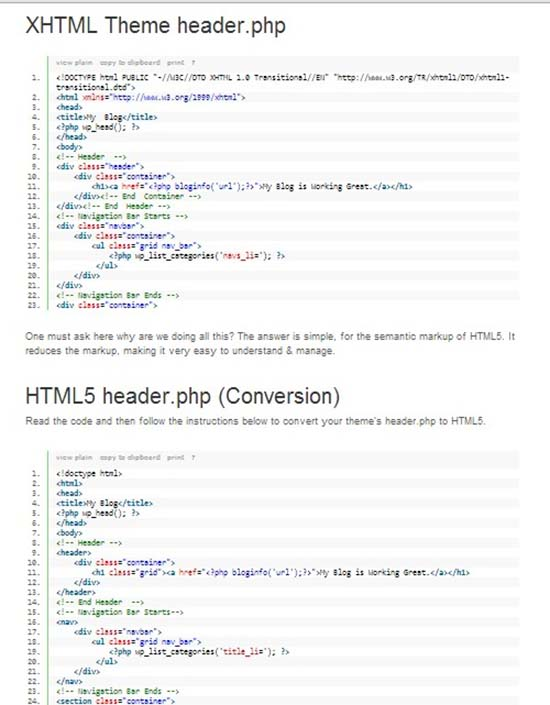 23. Convert your WordPress theme to HTML5