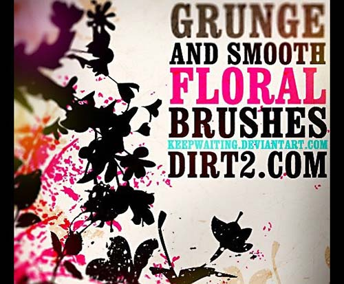 24-Floral Photoshop Brushes