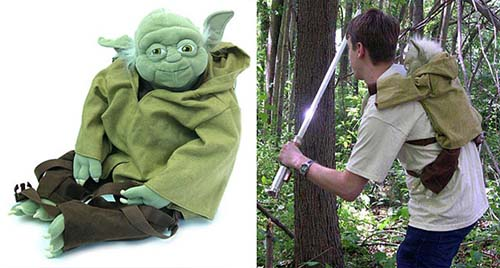24-Yoda Plush Backpack
