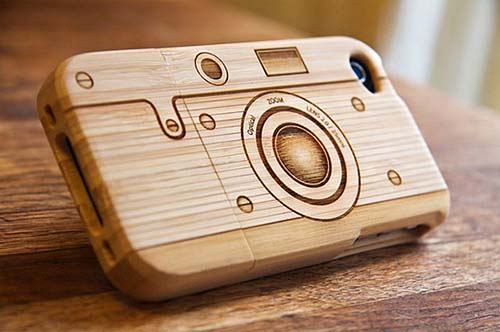 3-Wooden Camera Iphone Case