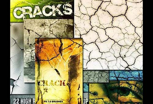 33-Cracks Photoshop Brushes