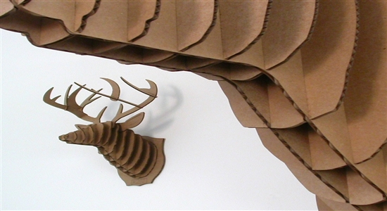8. BUKCY THE DEER CARDBOARD SCULPTURE