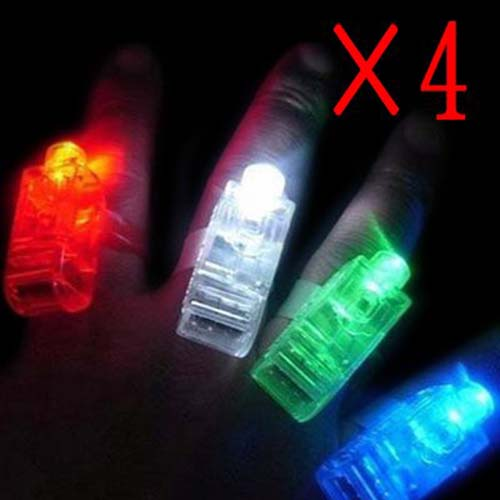 Fun Gadget Laser Finger Beams LED Light Party 4 pcs