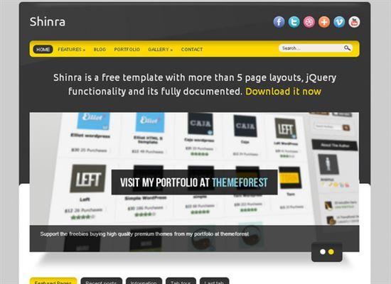 HTML5CSS3Templates 20 50 Adet Ücretsiz HTML5 CSS3 Çalışma