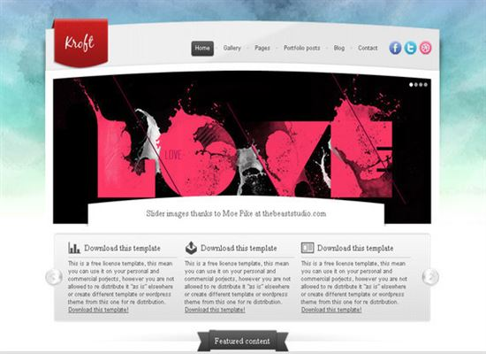 HTML5CSS3Templates 7 50 Adet Ücretsiz HTML5 CSS3 Çalışma