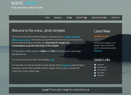 HTML5CSS3Templates 9 50 Adet Ücretsiz HTML5 CSS3 Çalışma
