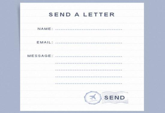 How To Build a Handwritten Letter Style Contact Form