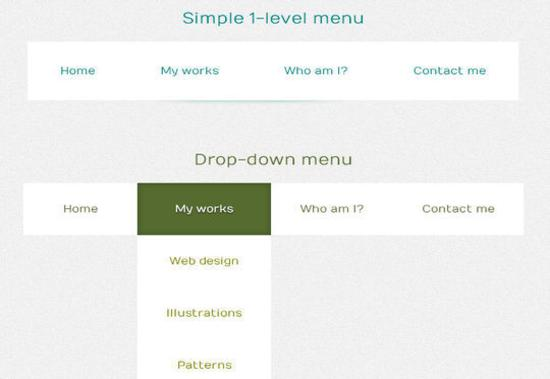 Pseudo Elements with Custom Attributes to Create a CSS3 Menu