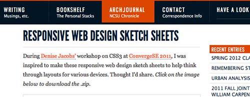 Responsive Web Design SketchSheets