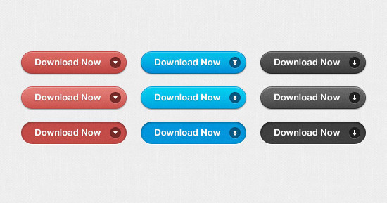 Simple Download Buttons (PSD)
