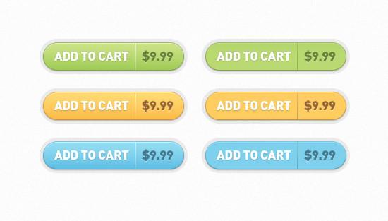 Add to Cart Buttons (PSD)