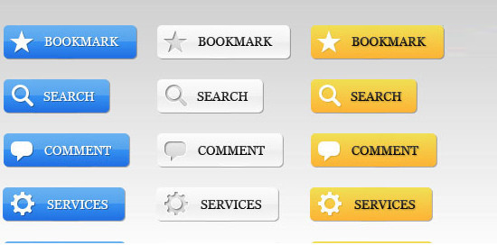 Awesome Web 2.0 Buttons