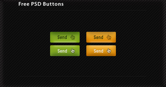 Green-Orange Button set