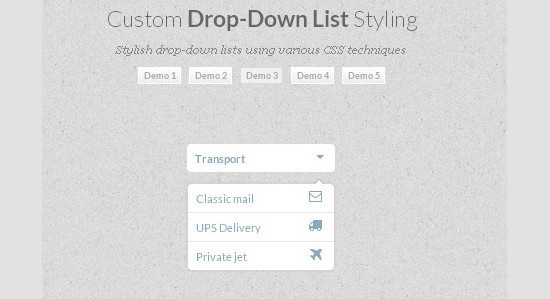 Custom DropDown List Styling