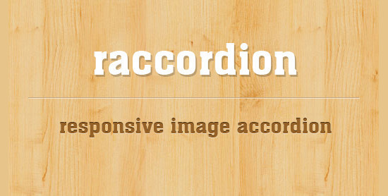 jQuery Responsive Horizontal Accordion Image Slider: raccordion