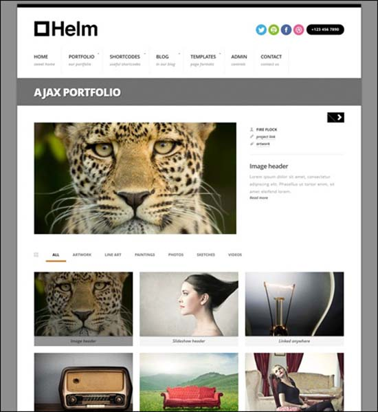 16-Helm Responsive Portfolio for WordPress