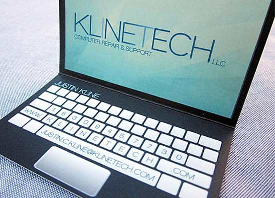 5-Laptop Design Business Card