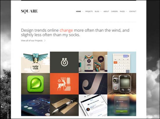 5-square-responsive-wordpress-theme