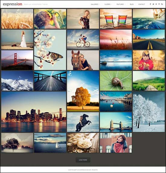 7-Expression Photography Responsive WordPress Theme