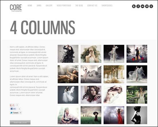 9-Core Minimalist Photography Portfolio
