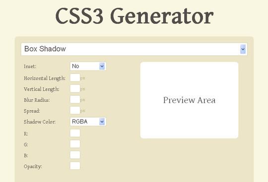 CSS3 Generator V1.6