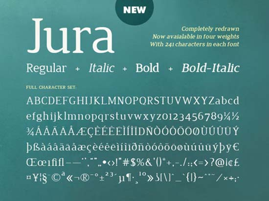 Jura-font