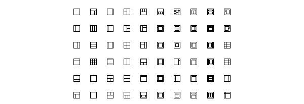 Layout Icons