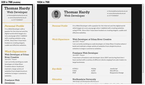 Responsive HTML CSS3 CV Template
