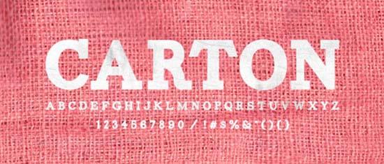 carton-font