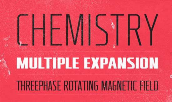 chemistry-font