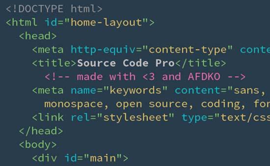 freeSource Code Pro-font