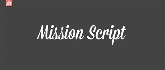 missionscriptfont