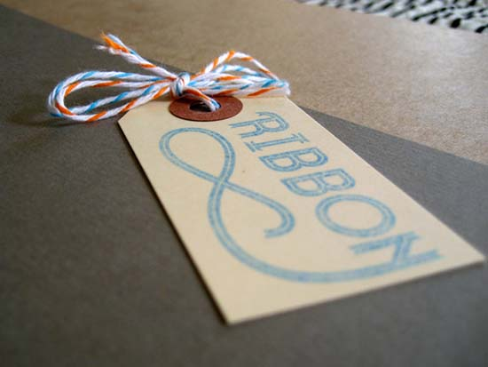 1) ribbon-typeface