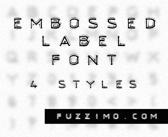 16) Embossed Label