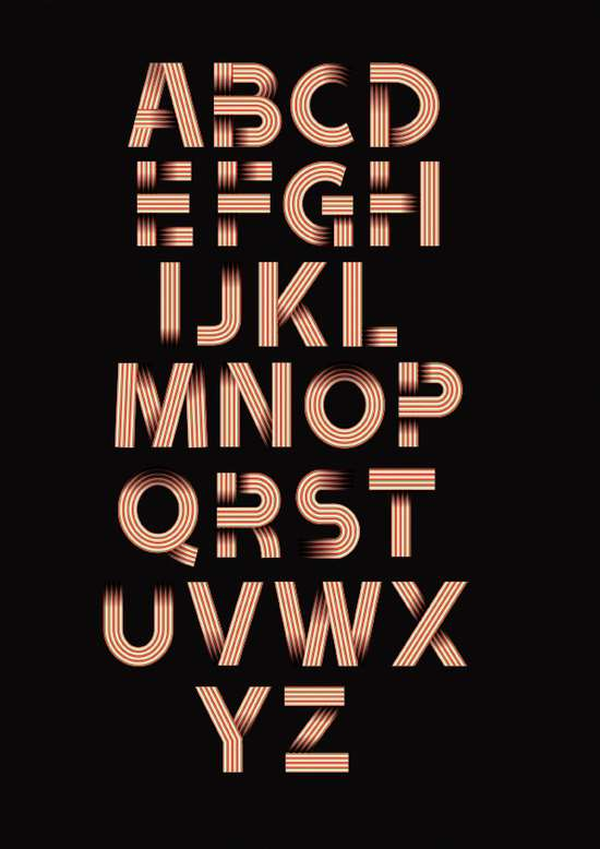 2) Ribbon Alphabet