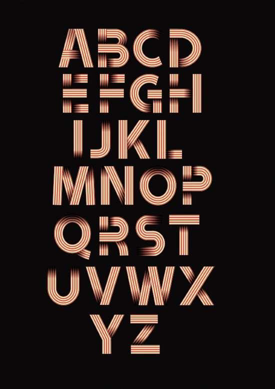 2) Ribbon Alphabet