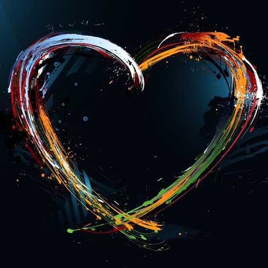 Abstract-Hearts