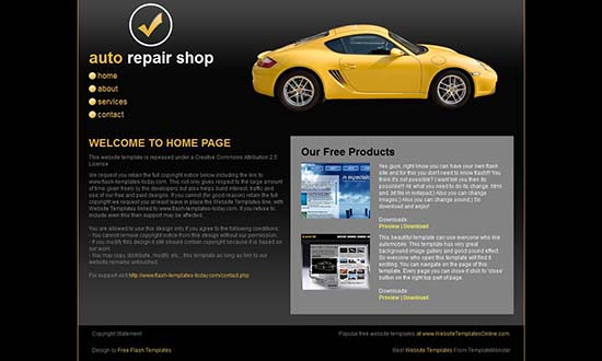 18 free automotive website templates, Invoice templates