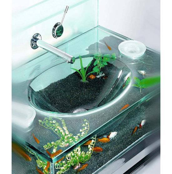 Bathroom Sink Aquarium