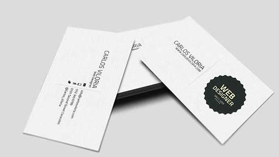 Business Card Retro Badge