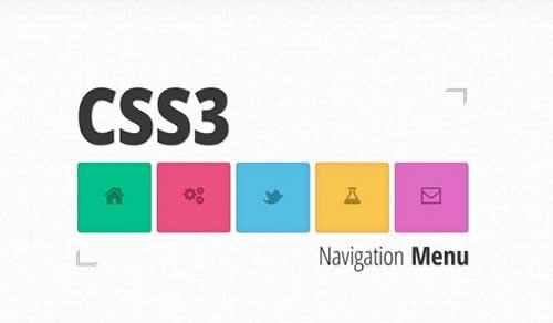 Colorful CSS3 Animated Navigation Menu